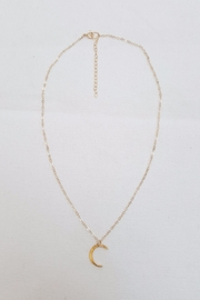Simply Chic Hammered Crescent Necklace - Product Mini Image