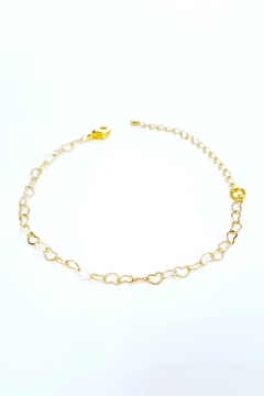 Simply Chic Heart Chain Bracelet - Product List Image