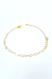 Simply Chic Heart Chain Bracelet - Front cropped