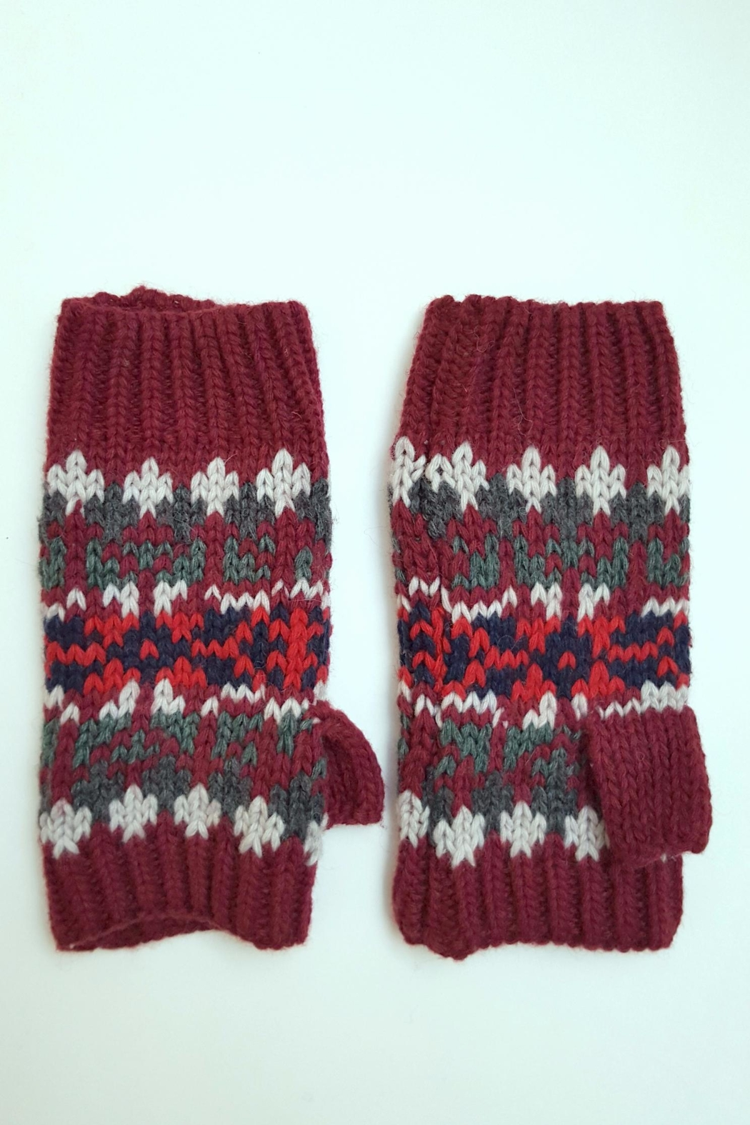 Simply Chic Knit Fingerless Gloves - Front Full Image