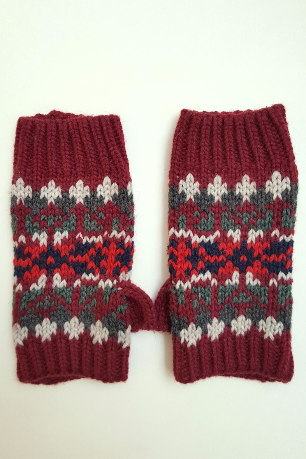 Simply Chic Knit Fingerless Gloves - Main Image