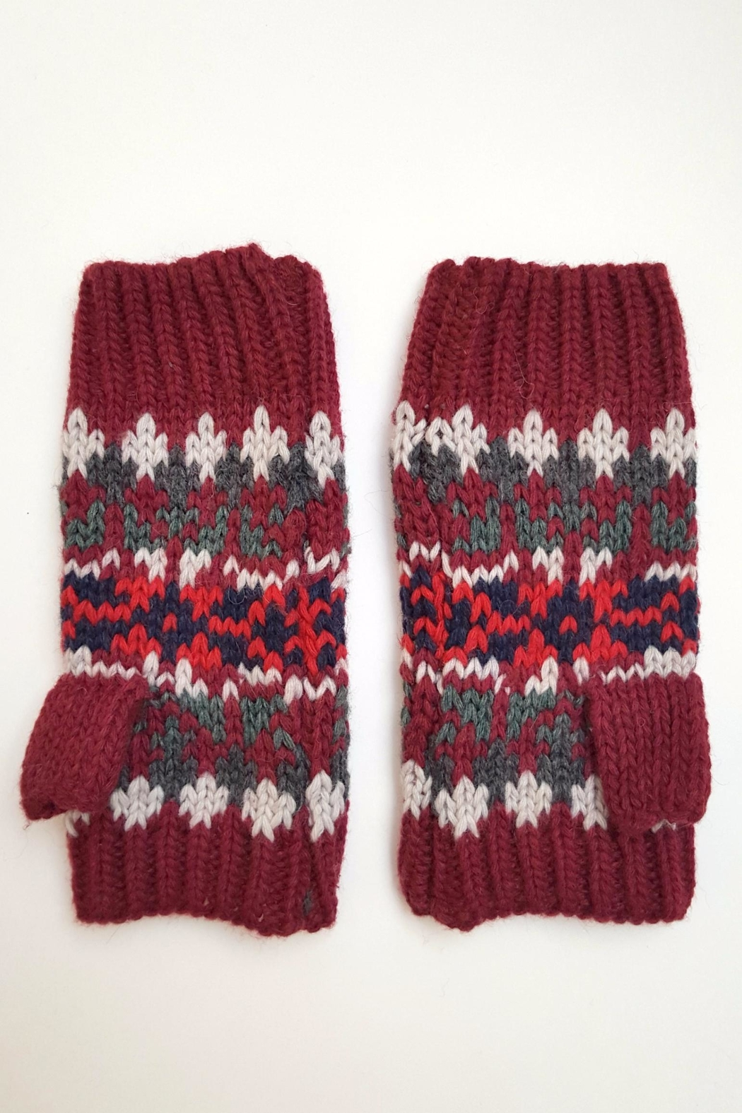 Simply Chic Knit Fingerless Gloves - Side Cropped Image