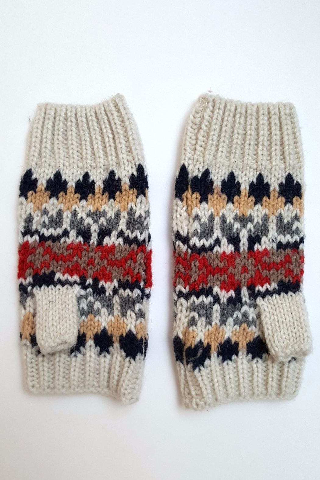 Simply Chic Knit Fingerless Gloves - Front Cropped Image