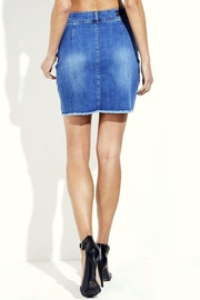 Simply Chic Lace Up Denim Skirt - Side cropped