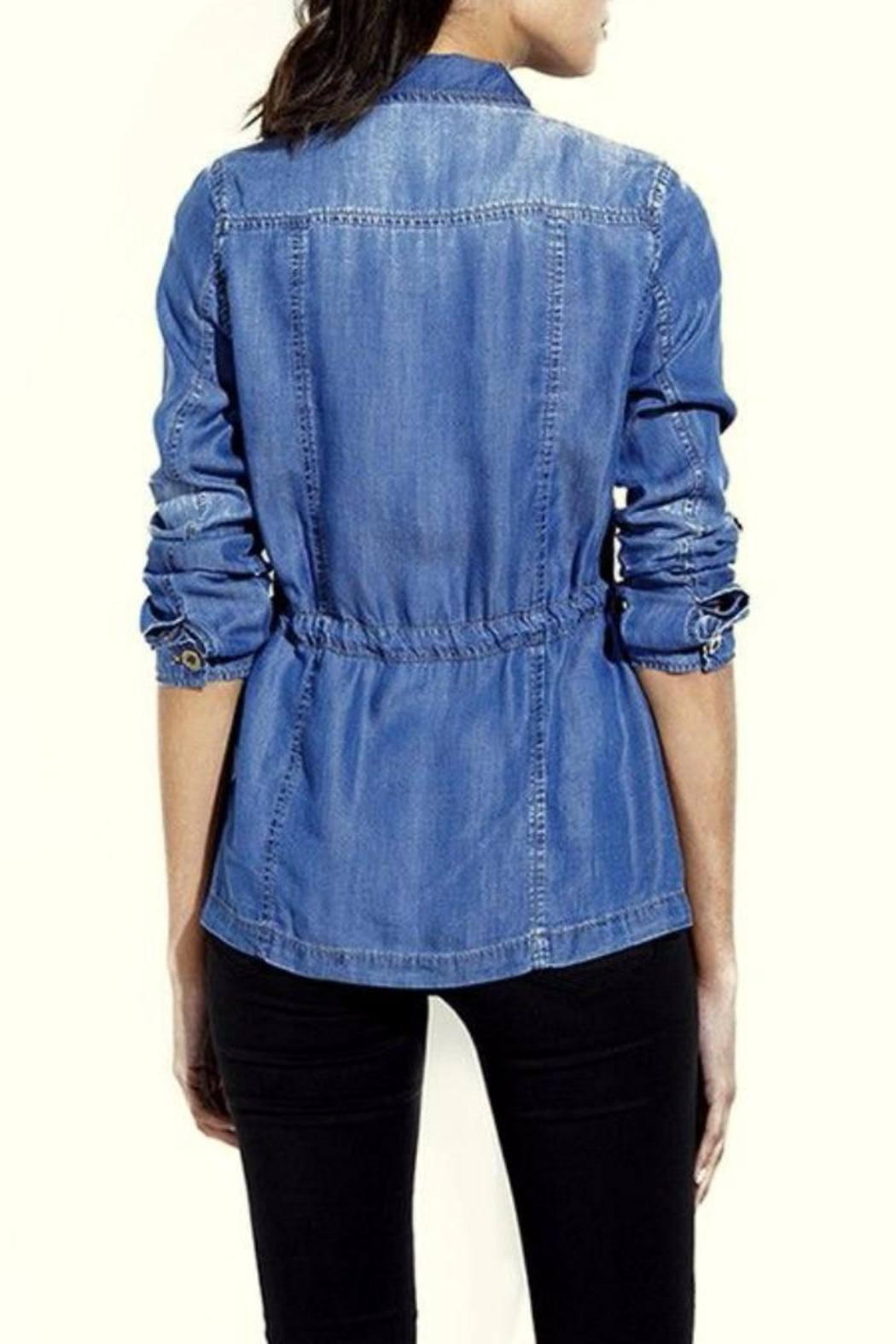 Simply Chic Lightweight Denim Jacket - Front Full Image