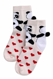 Simply Chic Love Panda Socks - Front cropped