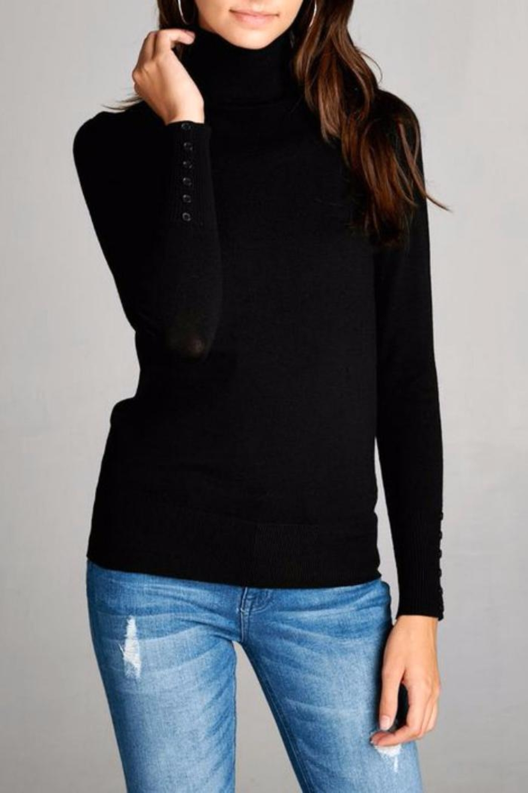 Simply Chic Mock Neck Sweater - Main Image
