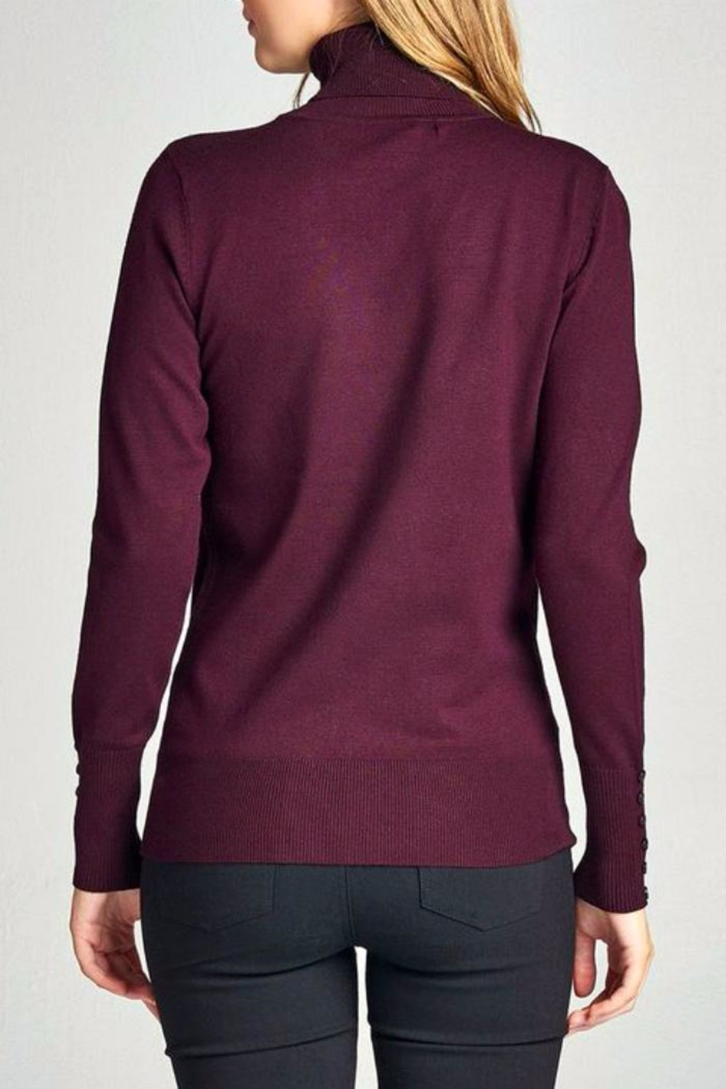 Simply Chic Mock Neck Sweater - Front Cropped Image