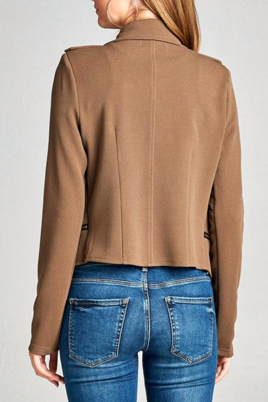 Simply Chic Moto Jacket - Front Full Image