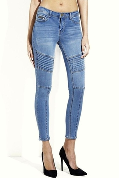 Simply Chic Moto Skinny Jeans - Product List Image