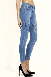Simply Chic Moto Skinny Jeans - Front full body