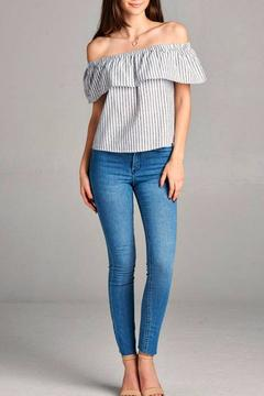 Simply Chic Off The Shoulder Crop Top - Alternate List Image