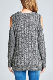 Simply Chic Open Shoulder Sweater - Front full body