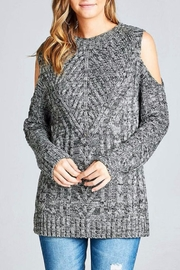 Simply Chic Open Shoulder Sweater - Product Mini Image