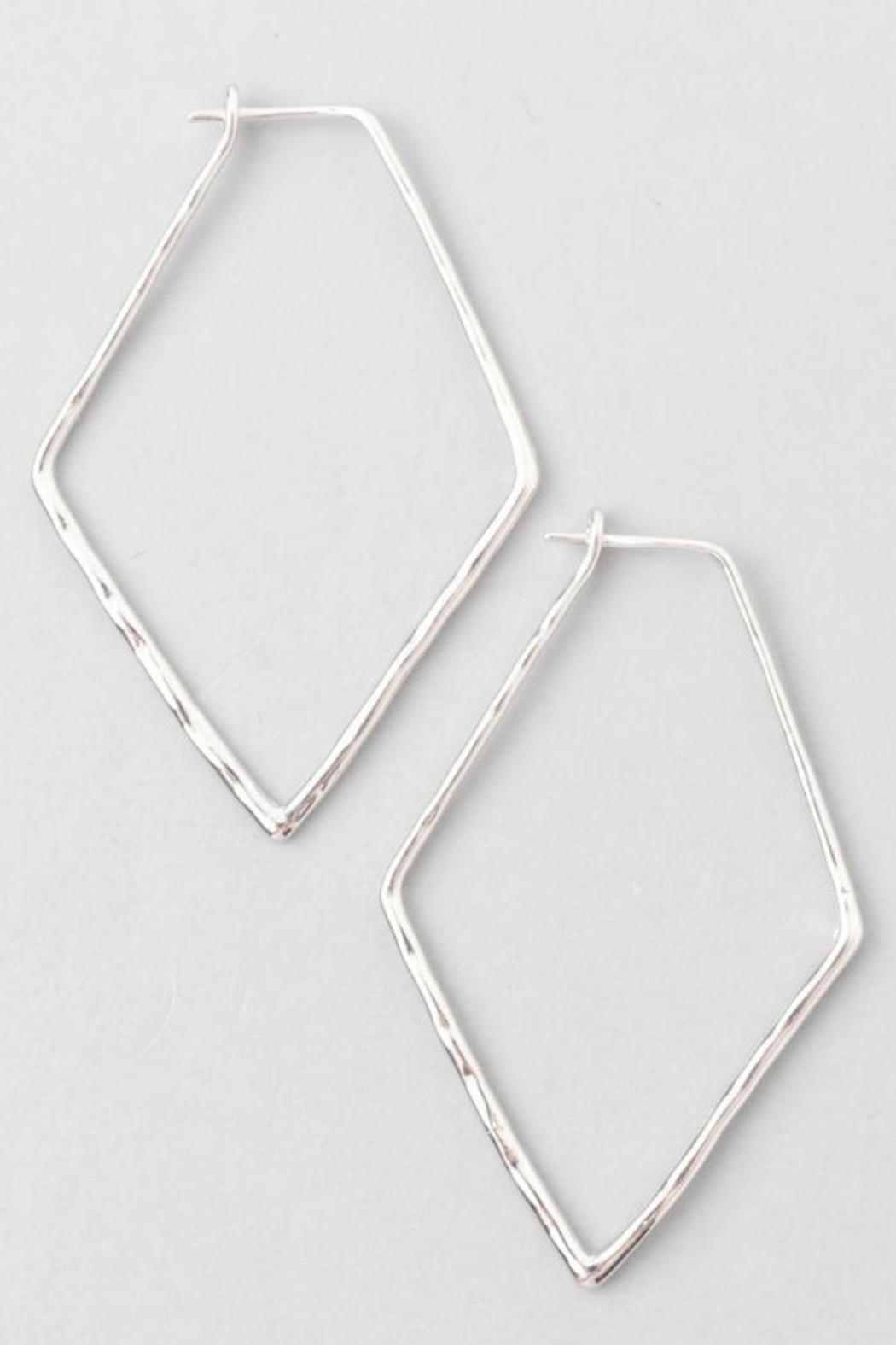 Simply Chic Pentagon Hoop Earrings - Main Image
