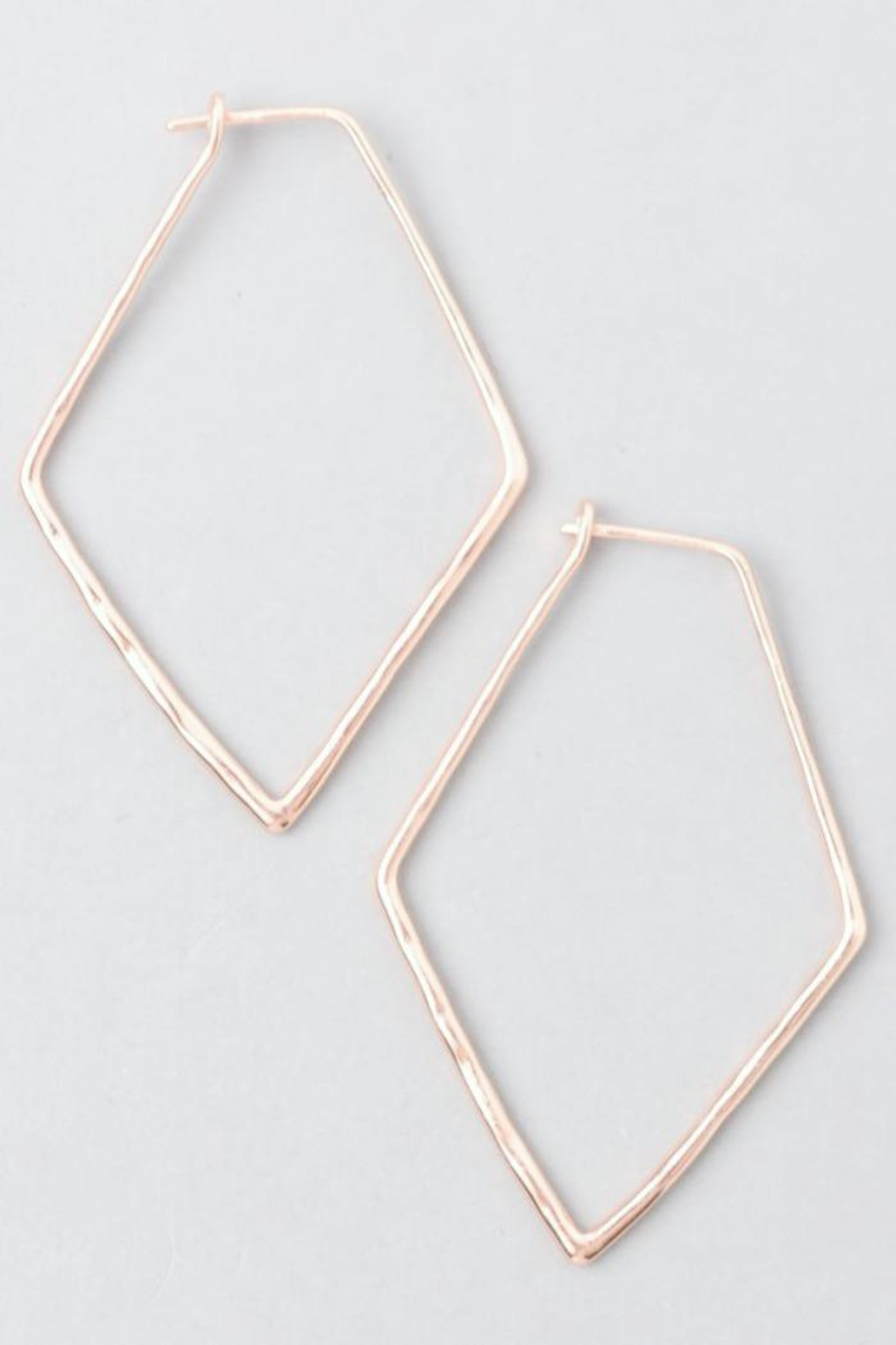 Simply Chic Pentagon Hoop Earrings - Front Cropped Image