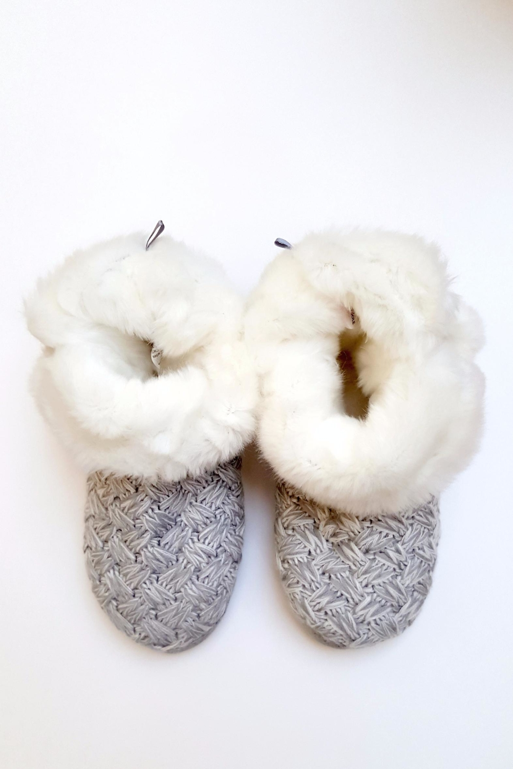 Simply Chic Pom-Pom Bootie Slippers - Side Cropped Image