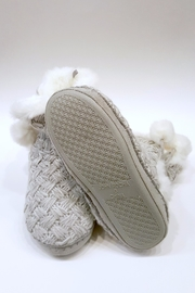 Simply Chic Pom-Pom Bootie Slippers - Other