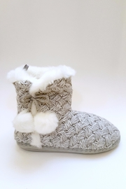 Simply Chic Pom-Pom Bootie Slippers - Front full body
