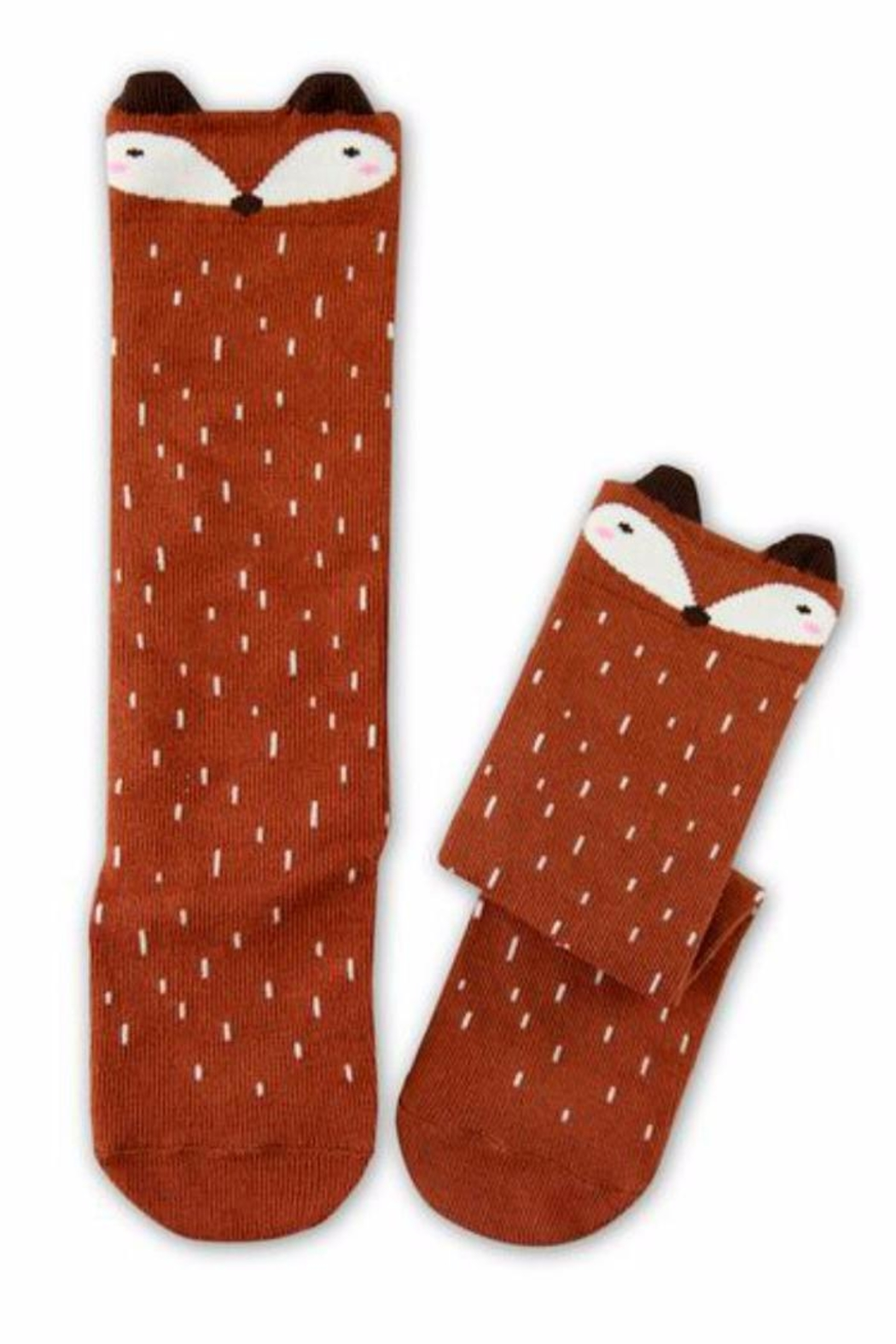 Simply Chic Racoon Knee Socks - Front Cropped Image
