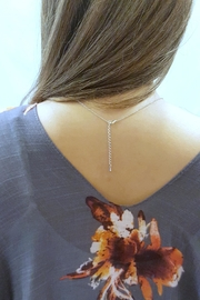 Simply Chic Silver Bar Necklace - Front full body