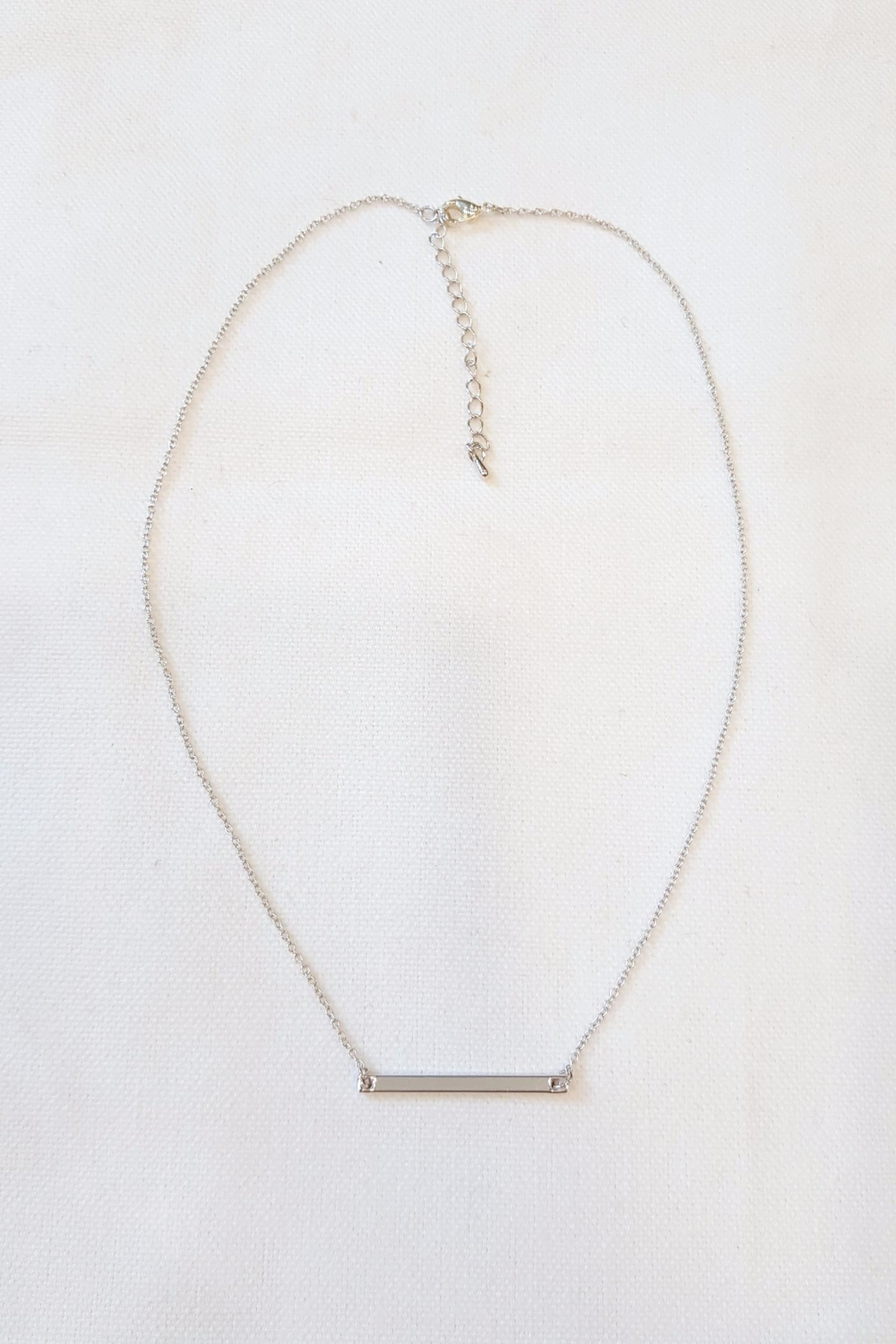 Simply Chic Silver Bar Necklace - Main Image