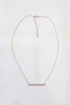Simply Chic Silver Bar Necklace - Product List Image
