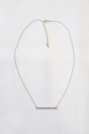 Simply Chic Silver Bar Necklace - Product Mini Image