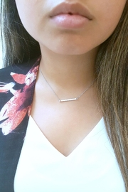 Simply Chic Silver Bar Necklace - Side cropped
