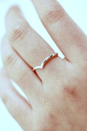 Simply Chic Silver Chevron Ring - Product Mini Image