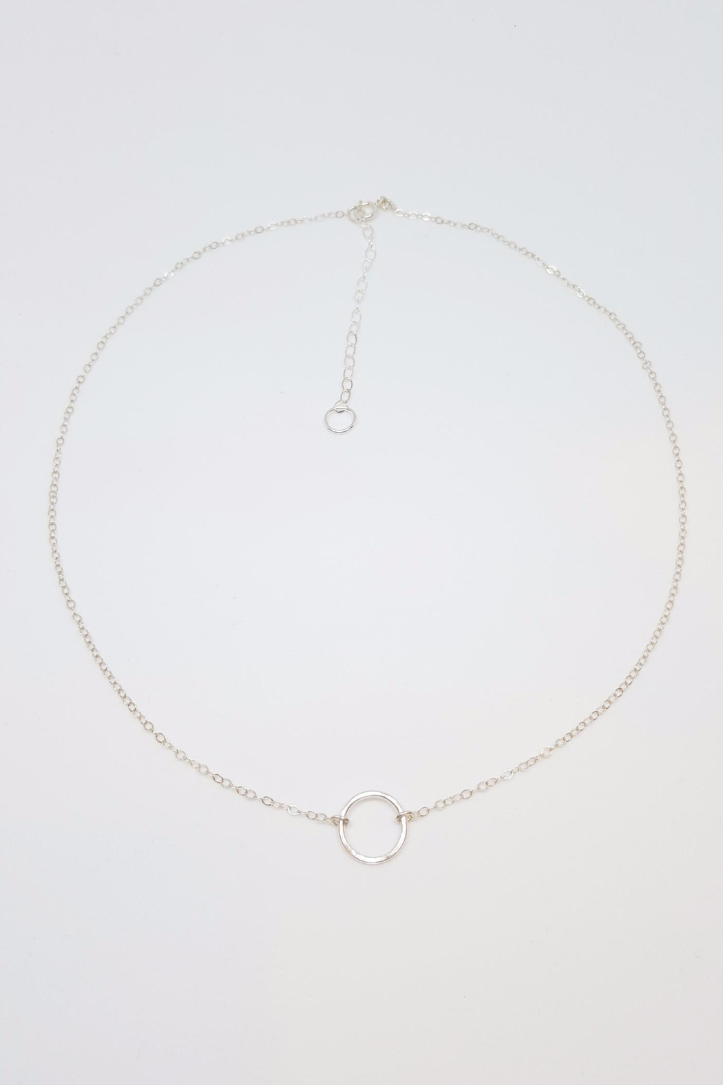 Simply Chic Silver Open Circle Necklace - Main Image
