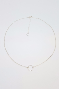 Shoptiques Product: Silver Open Circle Necklace