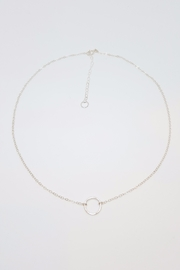 Simply Chic Silver Open Circle Necklace - Product Mini Image