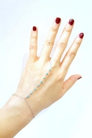Simply Chic Turquoise Hand-Chain Bracelet - Product Mini Image