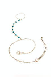 Simply Chic Turquoise Hand-Chain Bracelet - Side cropped