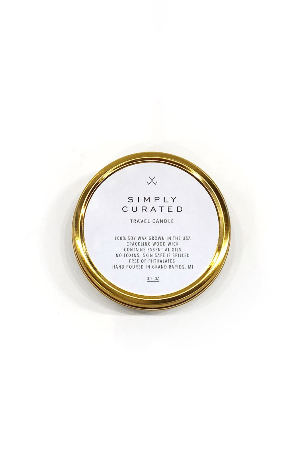 Simply Curated Smoke&Ember Travel Candle - Main Image