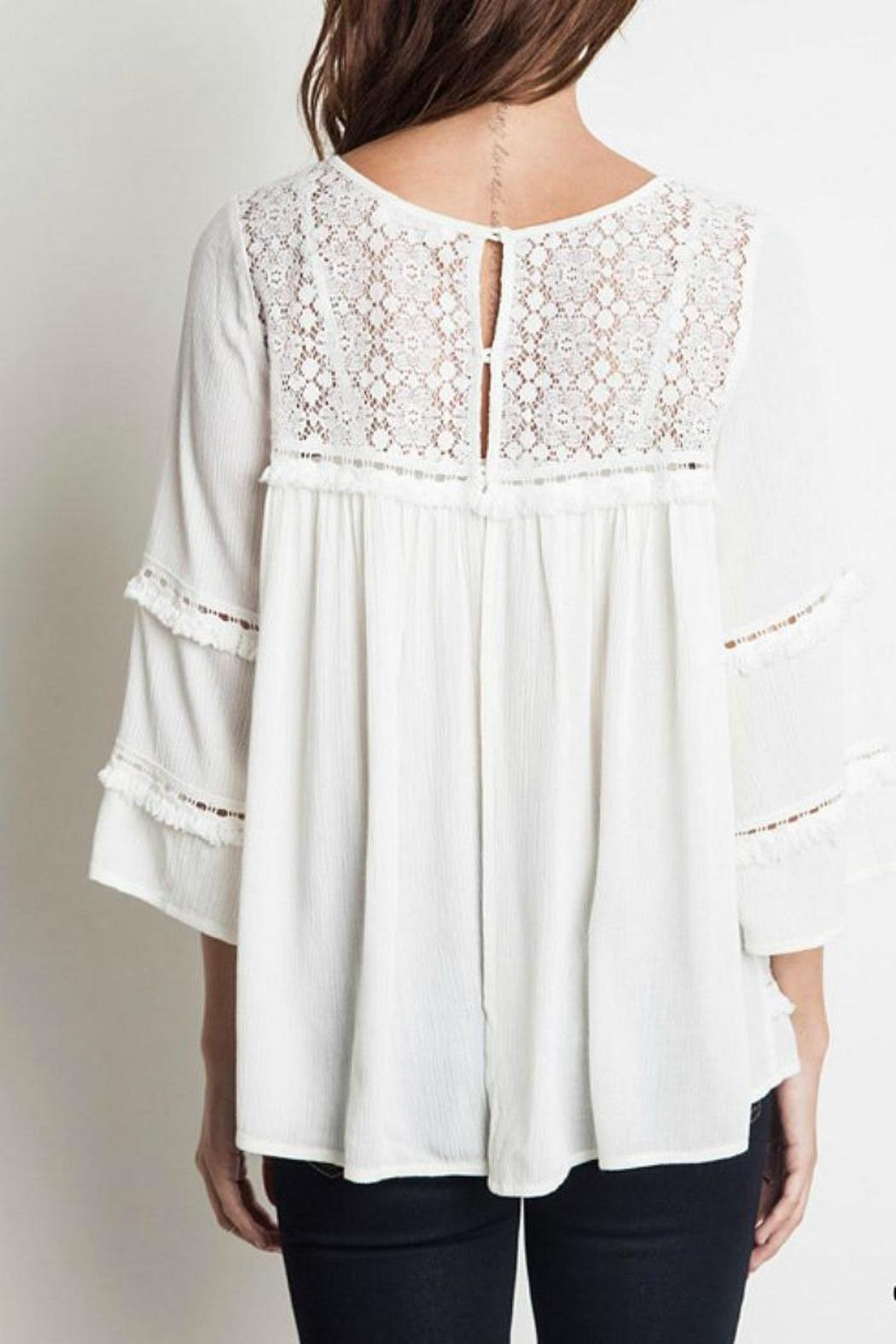 Simply dena cream peasant blouse from colorado shoptiques for Tops shirts and blouses