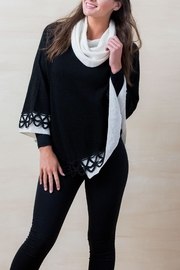 Simply Natural Cowl Neck Poncho - Front cropped