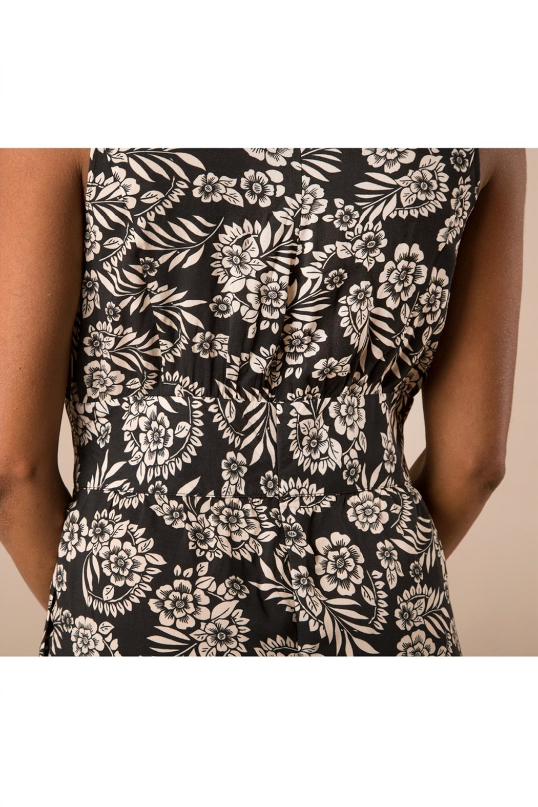 Simply Noelle Black Floral Jumpsuit - Back Cropped Image