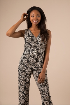 Simply Noelle Black Floral Jumpsuit - Product List Image