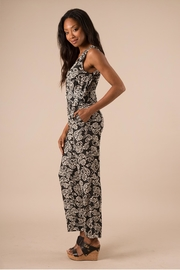 Simply Noelle Black Floral Jumpsuit - Front full body