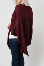Simply Noelle Bordeaux Cardi Wrap Poncho - Front full body