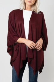 Simply Noelle Bordeaux Cardi Wrap Poncho - Front cropped
