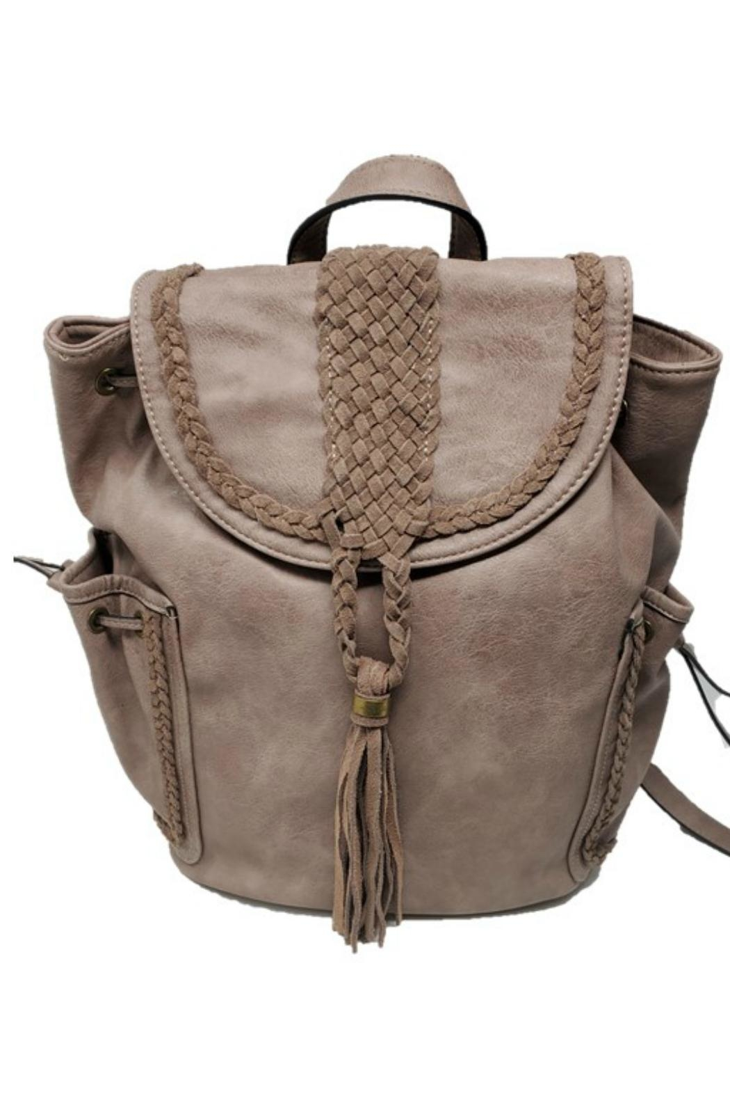 Simply Noelle Braided Backpack - Front Cropped Image
