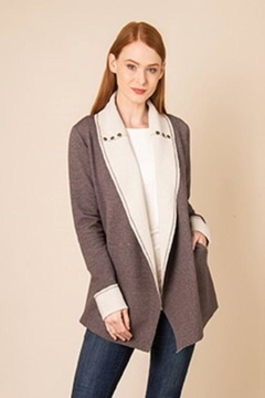 Simply Noelle Brown/cream Knit Jacket - Product List Image