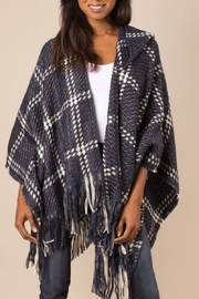 Simply Noelle Check Me Out Hooded Wrap Poncho Denim - Product Mini Image