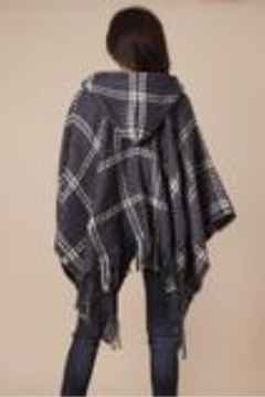 Simply Noelle Check Me Out Hooded Wrap Poncho Denim - Alternate List Image