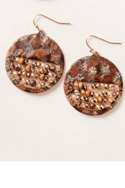 Simply Noelle Circle Beaded Earrings - Product Mini Image