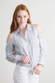 Simply Noelle Cold Shoulder Blouse - Product Mini Image