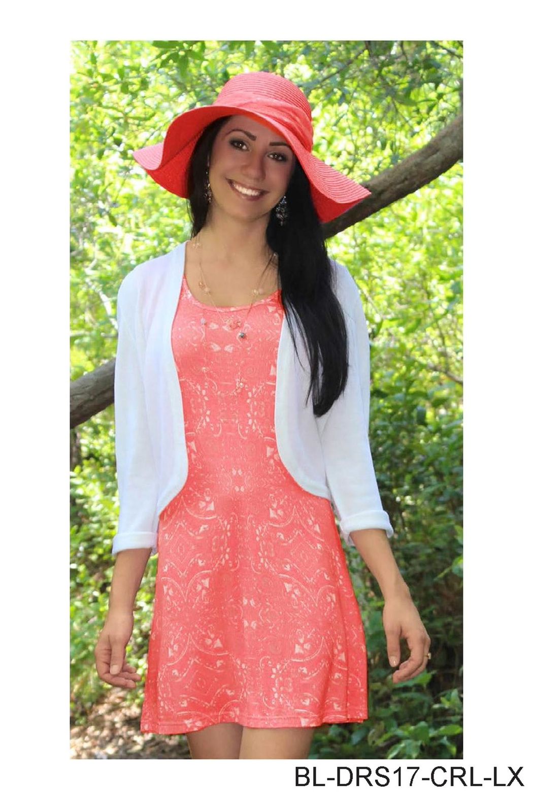 Simply Noelle Coral Tank Dress - Main Image